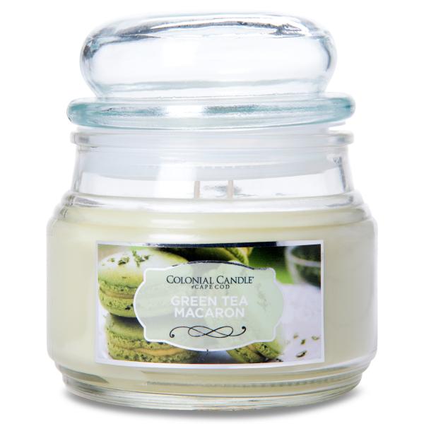 Colonial Candle - Kleine Duftkerze im Glas - Terrace Jar - Green Tea Macaron Terrace