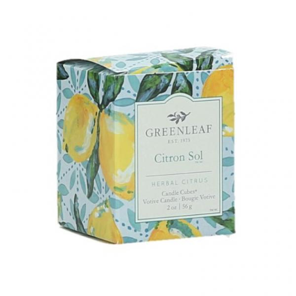 Greenleaf - Candle Cube Votivkerze - Duftkerze - Citron Sol