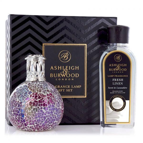 Ashleigh & Burwood - Geschenkset - Duftlampe Pearlecense & 250ml Fresh Linen