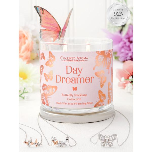 Charmed Aroma - Duftkerze mit Schmuck - Duftkerze im Glas Daydreamer (Halskette)