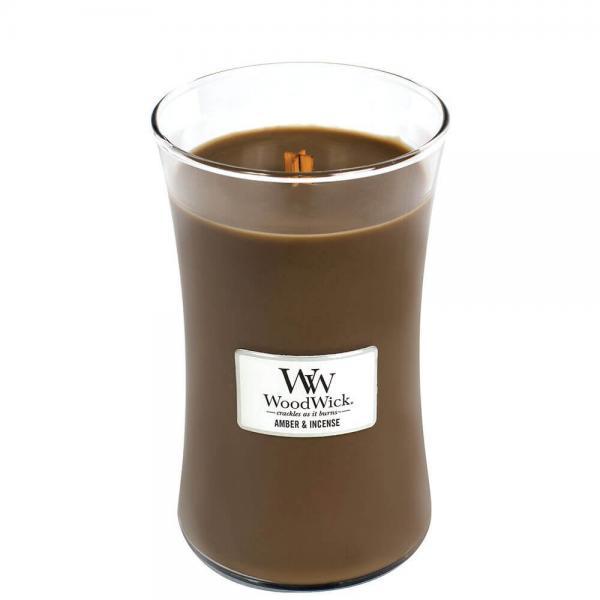 WoodWick - Large Hourglass Duftkerze - Amber & Incense