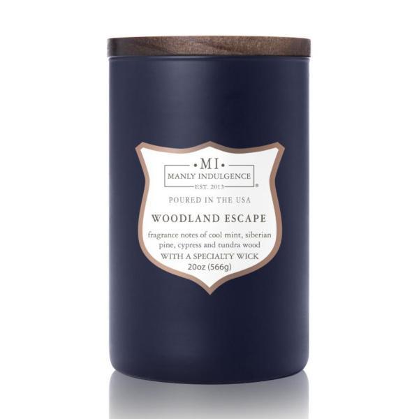 Colonial Candle - Große Duftkerze im Glas - Manly Indulgence - Woodland Escape