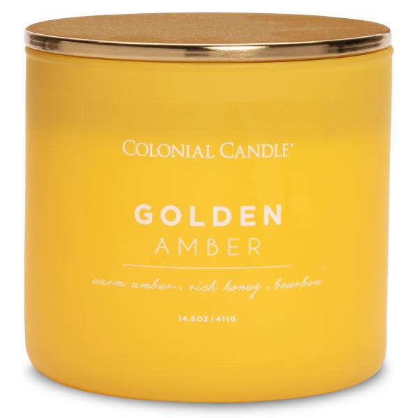 Colonial Candle - Mittlere Duftkerze im Glas - Pop of Color - Golden Amber