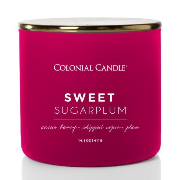 Colonial Candle - Mittlere Duftkerze im Glas - Pop of Color - Sweet Sugarplum