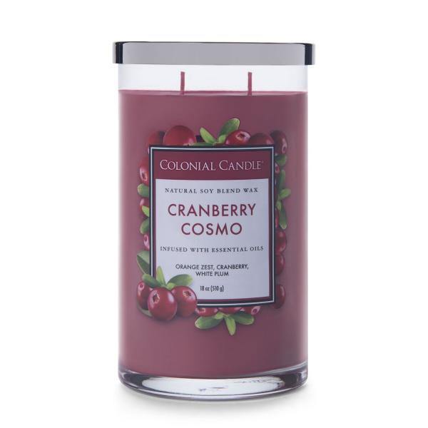 Colonial Candle - Große Duftkerze im Glas - Classic Cylinder - Cranberry Cosmo