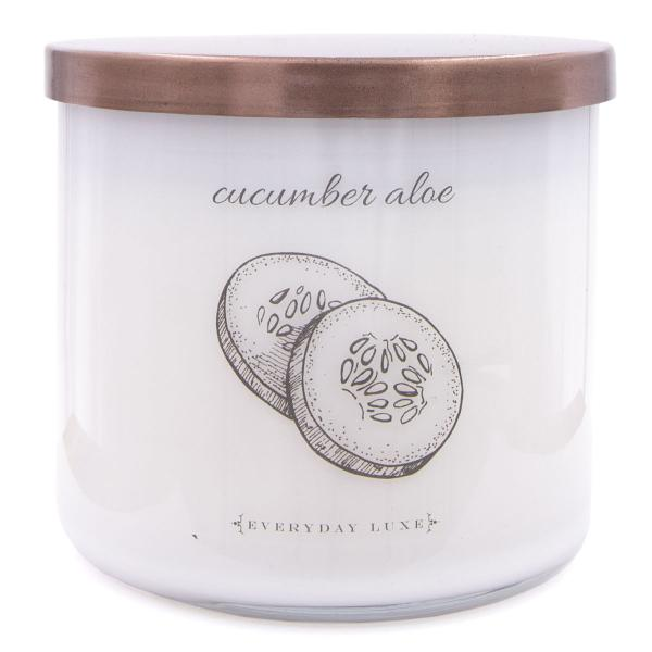 Colonial Candle - Mittlere Duftkerze im Glas - Everyday Luxe - Herbs Cucumber Aloe