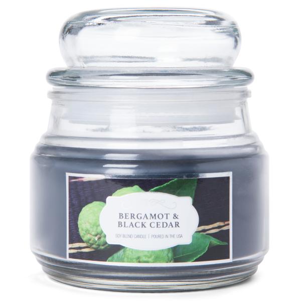 Colonial Candle - Kleine Duftkerze im Glas - Terrace Jar - Bergamot & Black Cedar Terr