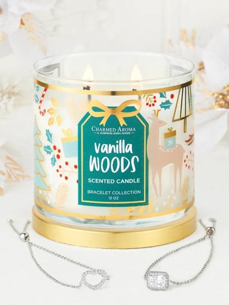 Charmed Aroma - Duftkerze mit Schmuck - Vanilla Woods (Armband)