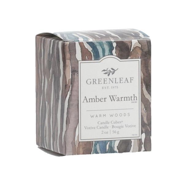 Greenleaf - Candle Cube Votivkerze - Duftkerze - Amber Warmth