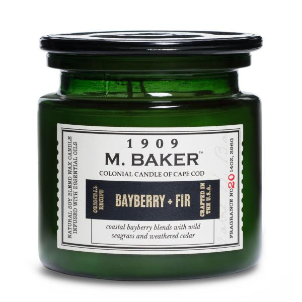 Colonial Candle - Mittlere Duftkerze im Glas - M. Baker - Bayberry and Fir