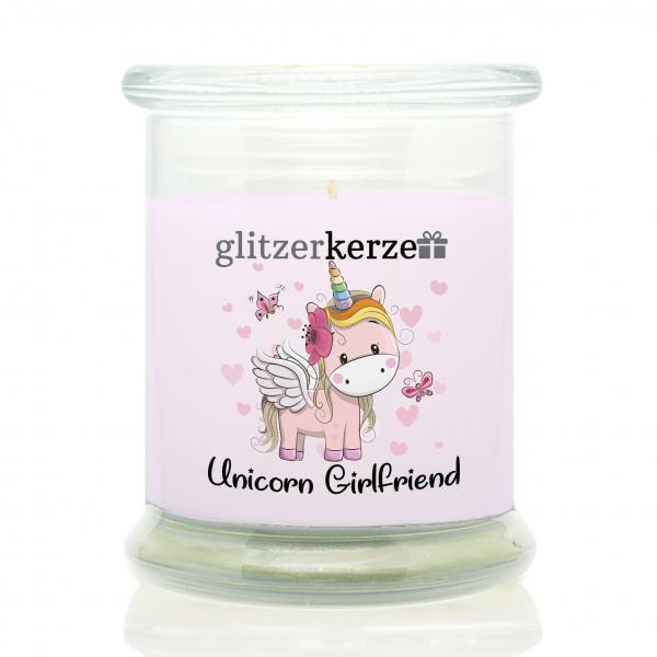 glitzerkerze - Duftkerze - Unicorn Girlfriend