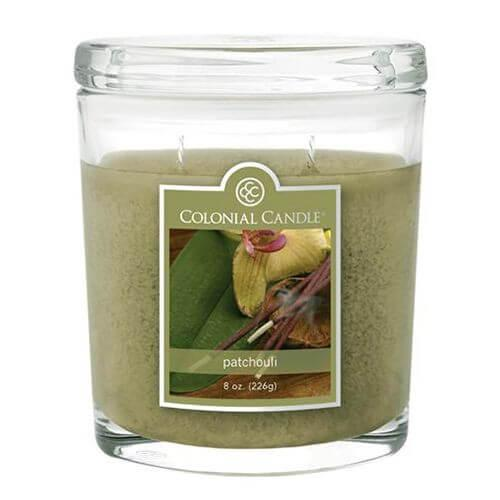 Colonial Candle - Kleine Duftkerze im Glas - Oval Collection - Patchouli