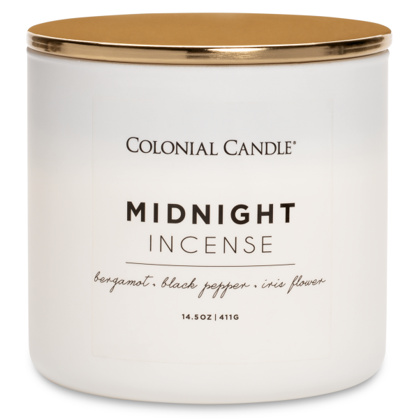Colonial Candle - Mittlere Duftkerze im Glas - Pop of Color - Midnight Incense