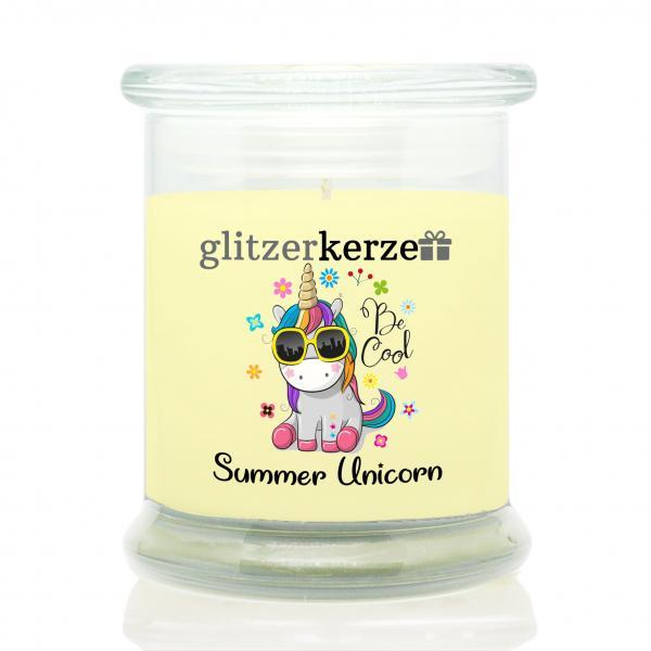 glitzerkerze - Duftkerze - Summer Unicorn