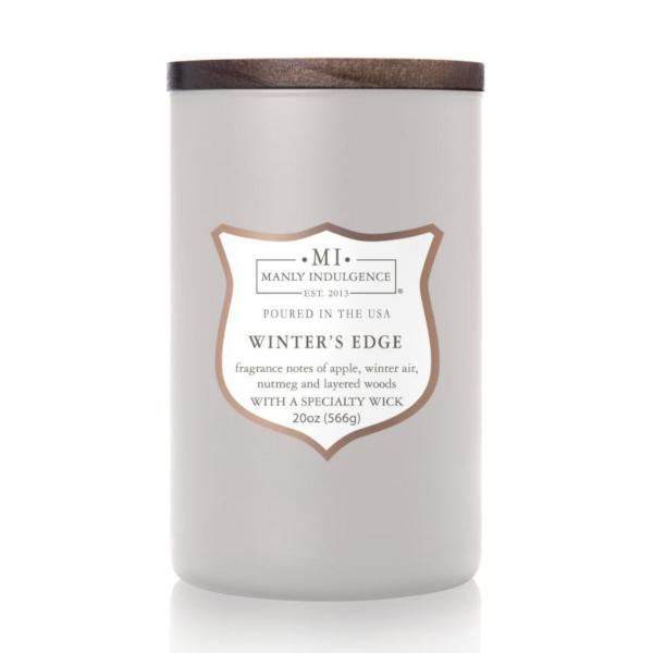 Colonial Candle - Große Duftkerze im Glas - Manly Indulgence - Winter's Edge