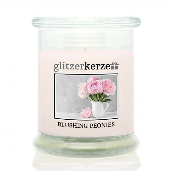 glitzerkerze - Duftkerze - Blushing Peonies
