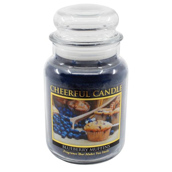 Cheerful Candle - Classic Large Jar - Duftkerze im Glas - Blueberry Muffins