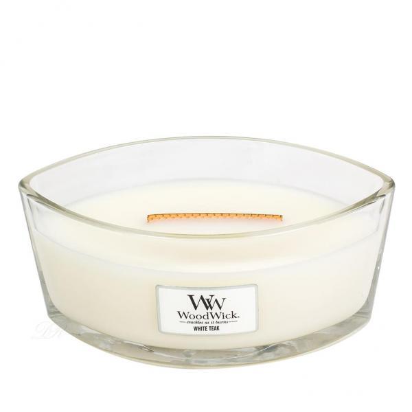 WoodWick - Hearthwick Ellipse Jar - White Teak
