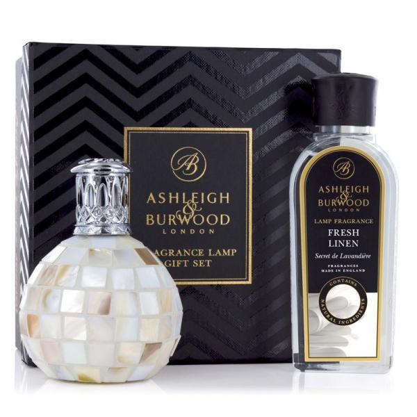 Ashleigh & Burwood - Geschenkset - Duftlampe Arctic Tundra & 250ml Fresh Linen