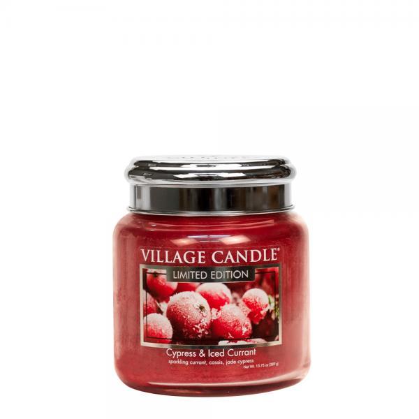 Village Candle - Medium Glass Jar - Cypress & Iced Currant (LE)