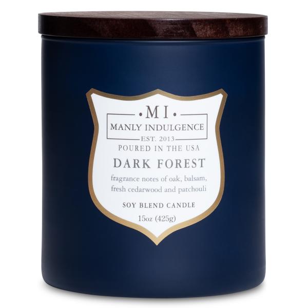 Colonial Candle - Mittlere Duftkerze im Glas - Manly Indulgence - Dark Forest