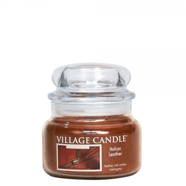 >Village Candle - Small Glass Jar - Italien Leather