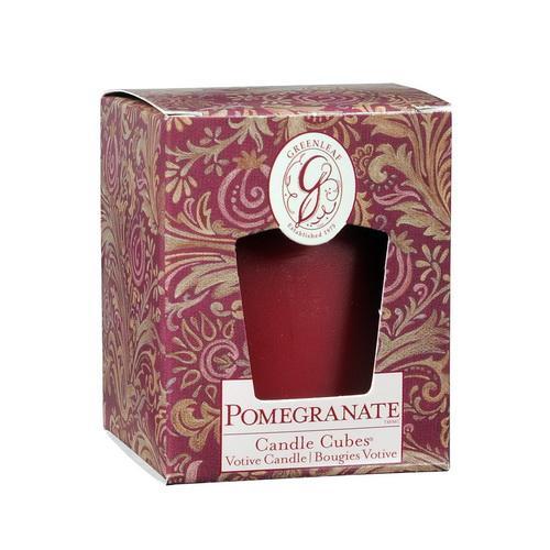 *Greenleaf - Candle Cube Votivkerze - Duftkerze - Pomegranate