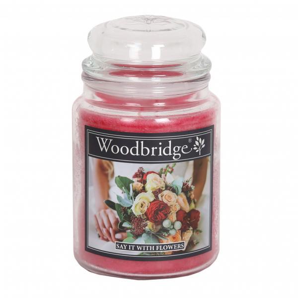 Woodbridge Candle - Große Duftkerze im Glas - Say It With Flowers