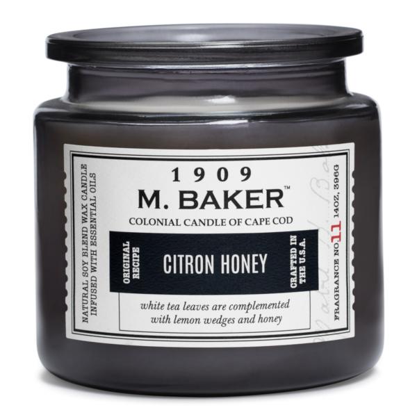 Colonial Candle - Mittlere Duftkerze im Glas - M. Baker - Citron Honey