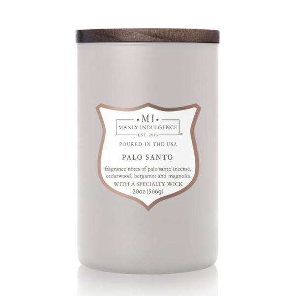 Colonial Candle - Große Duftkerze im Glas - Manly Indulgence - Palo Santa