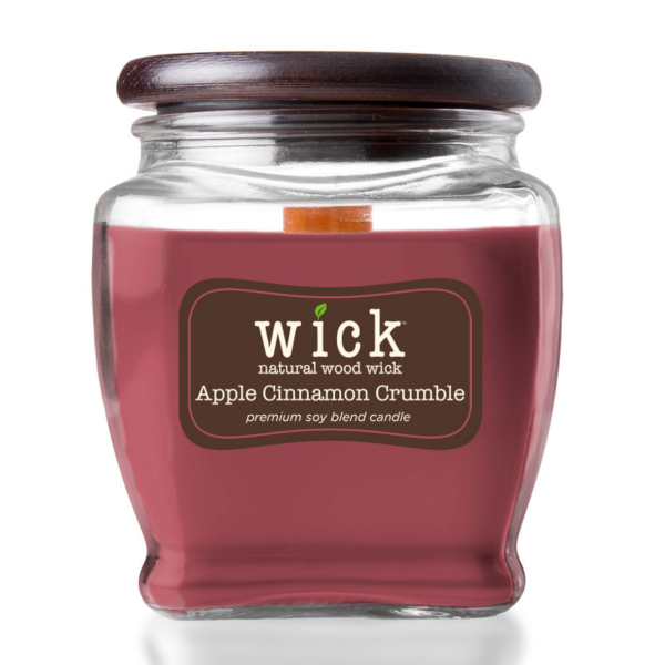 Colonial Candle - Mittlere Duftkerze im Glas - WICK Collection - Cinnamon Crumble