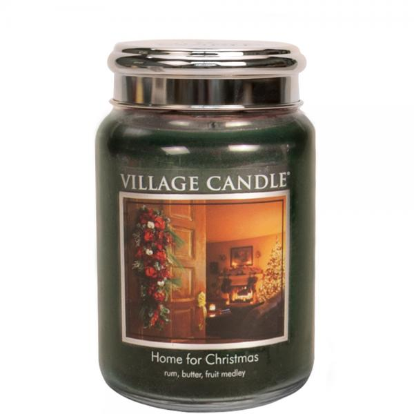 Village Candle - Large Glass Jar - Home For Christmas º*