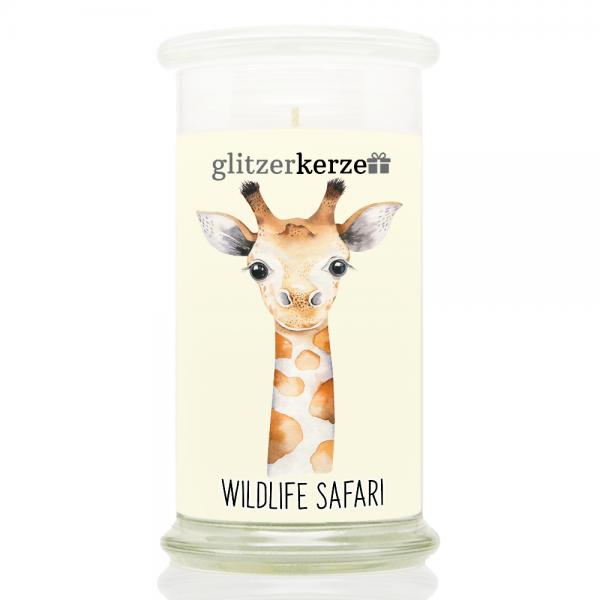 glitzerkerze - CE 08.21 - Wildlife Safari