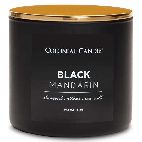 Colonial Candle - Mittlere Duftkerze im Glas - Pop of Color - Black Mandarin