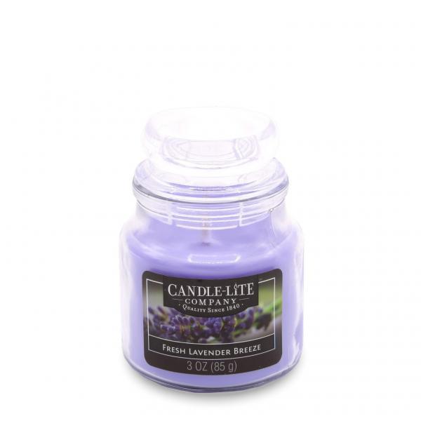 Candle-Lite Company - Kleine Duftkerze im Glas - Small Jar - Fresh Lavender Breeze