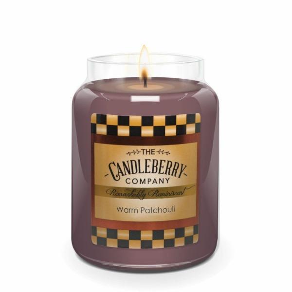 Candleberry - Duftkerze im Glas - Warm Patchouli