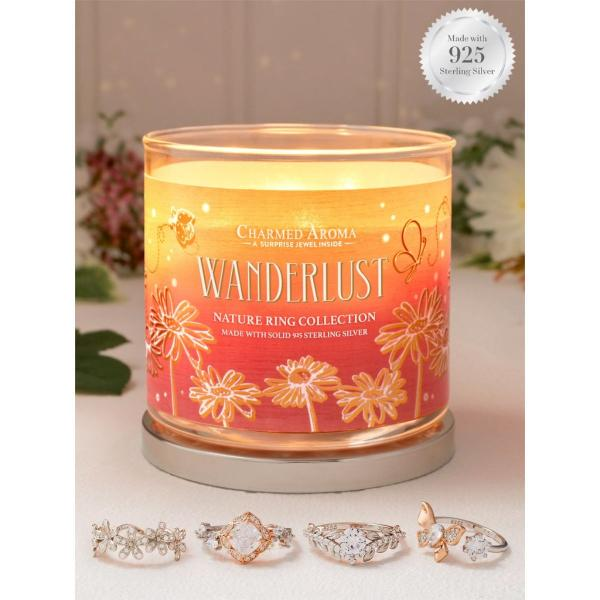Charmed Aroma - Duftkerze mit Schmuck - Wanderlust (Ring)