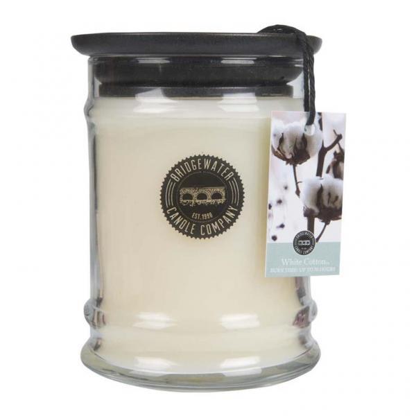 Bridgewater Candle - Kleine Duftkerze im Glas - Small Jar - White Cotton