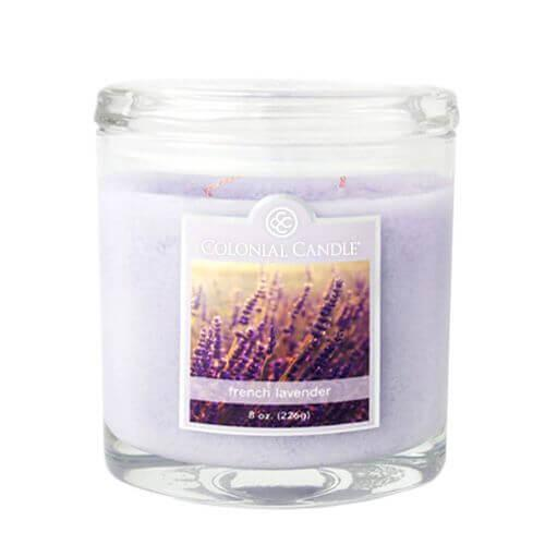 Colonial Candle - Kleine Duftkerze im Glas - Oval Collection - French Lavender
