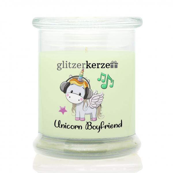 glitzerkerze - Duftkerze - Unicorn Boyfriend