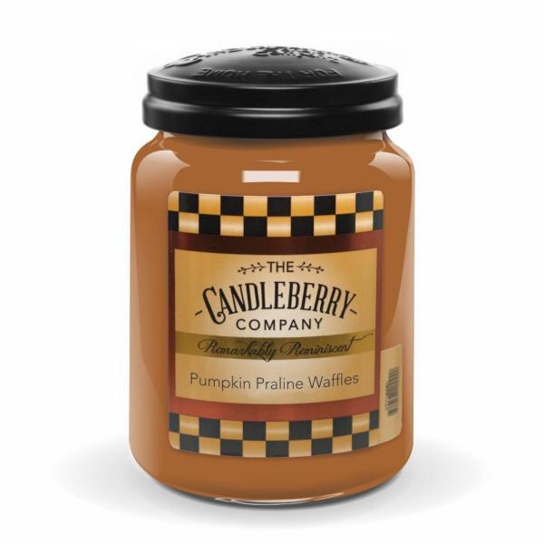 Candleberry - Duftkerze im Glas - Pumpkin Praline Waffles