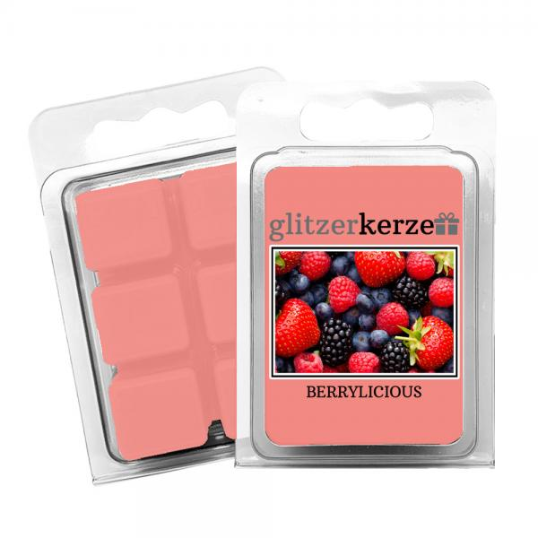 glitzerkerze - Duftwachs Berrylicious