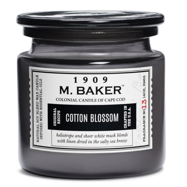 Colonial Candle - Mittlere Duftkerze im Glas - M. Baker - Cotton Blossom