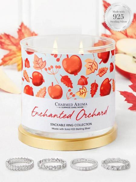 Charmed Aroma - Duftkerze mit Schmuck - Enchanted Orchard (Ring)