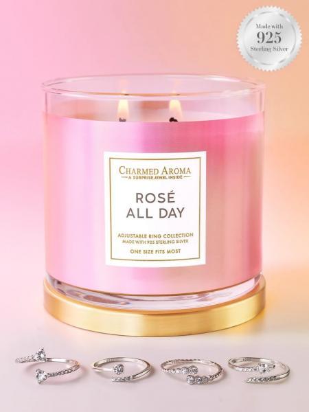 Charmed Aroma - Duftkerze mit Schmuck - Rosé All Day Kerze (Ring)