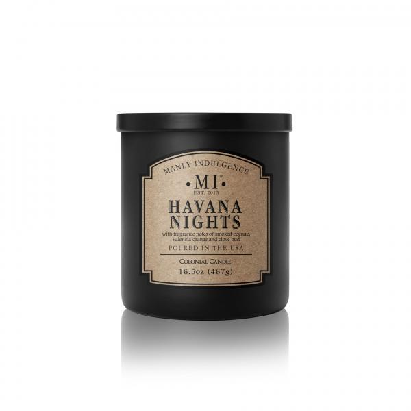 Colonial Candle - Mittlere Duftkerze im Glas - Manly Indulgence - Havana Nights