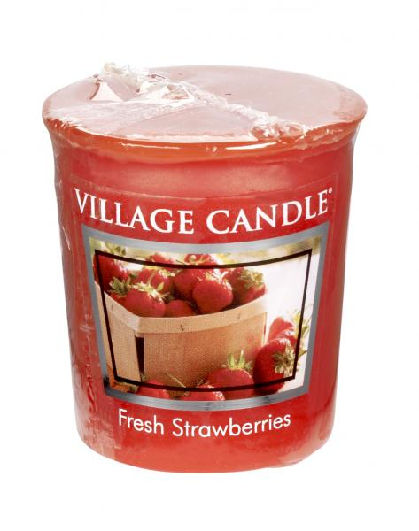 Village Candle - Votivkerze - Fresh Strawberries