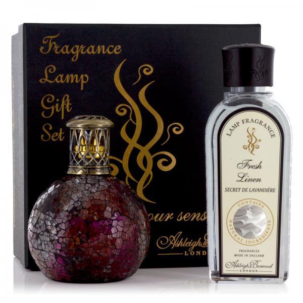 Ashleigh & Burwood - Geschenkset - Duftlampe Rose Bud & 250ml Fresh Linen