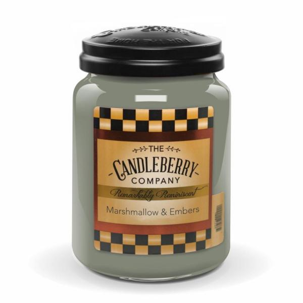 Candleberry - Duftkerze im Glas - Marshmallow & Embers