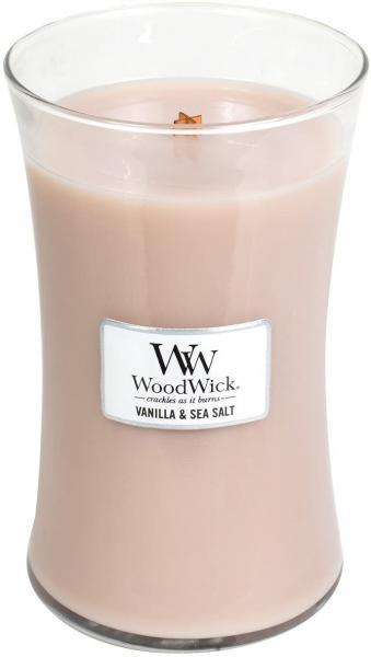 WoodWick - Large Hourglass Duftkerze - SVanilla & Sea Salt